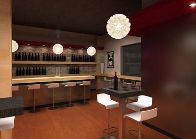 Arquitectura gastronomica instituto de los andes for Bar casa minimalista